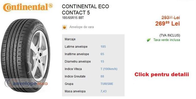 anvelope de vara continental eco contact 5