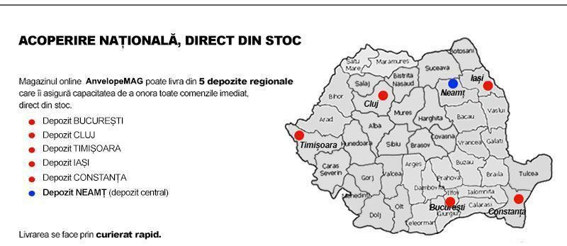 Acoperire nationala direct din stoc - AnveloSHOP
