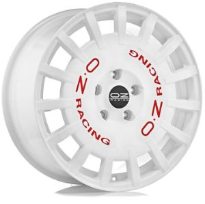 jante OZRALLY RACING RACE WHITE RED LETTERING